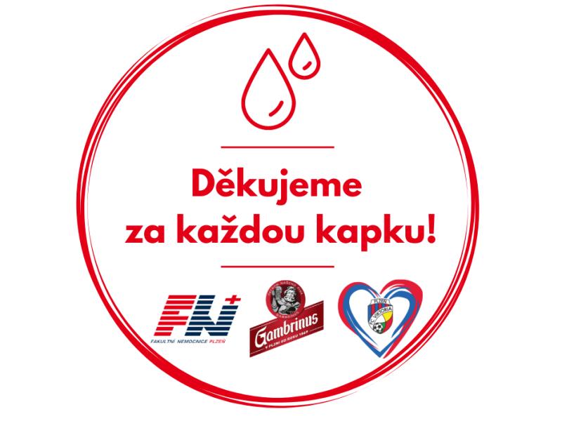Dárcům krve v Plzni poděkují Viktorka i Gambrinus