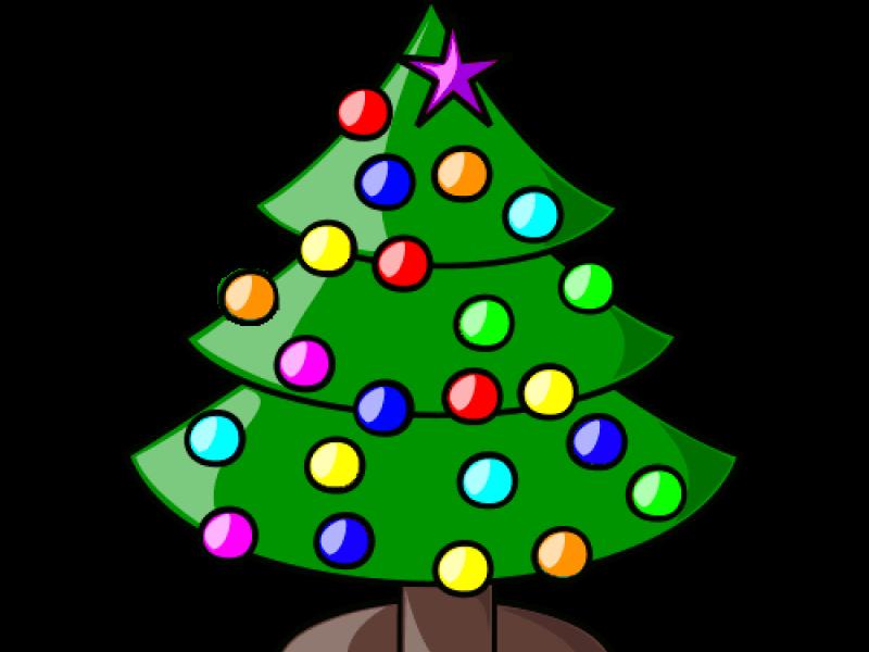Vánoční strom splněných přání svítí